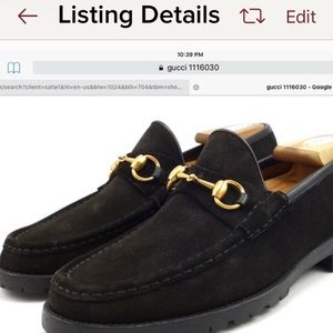 Last Chance -Gucci black suede horse bit loafers